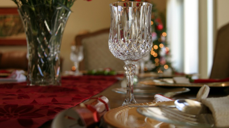 Crystal Christmas at Your Dinner Table