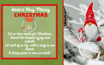 """Xmas Quotes:""""Let us have music for Christmas… Sound the trumpet of joy and rebirth; Let each of us try, with a song in our hearts, To bring peace to men on earth."""""""