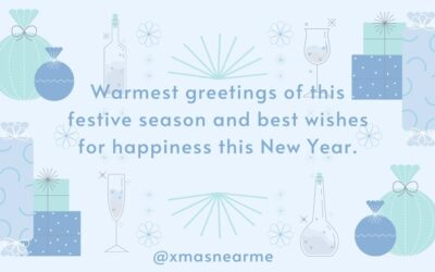 Warmest greetings of this festive season and best wishes for happiness this New Year.