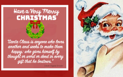 """Christmas Quotes """"Santa Claus is anyone who loves another and seeks to make them happy; who gives himself by thought or word or deed in every gift that he bestows."""""""