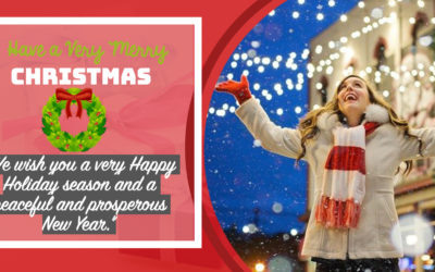 """Corporate Xmas Cards:""""We wish you a very Happy Holiday season and a peaceful and prosperous New Year."""""""