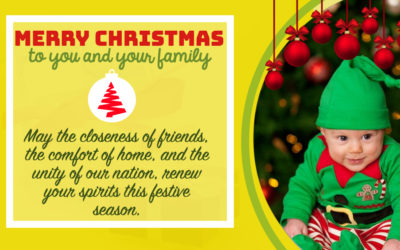 Christmas Wishes:May the closeness of friends, the comfort of home, and the unity of our nation, renew your spirits this festive season.