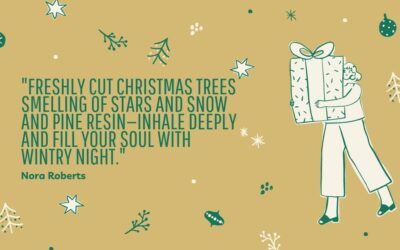 """Freshly cut Christmas trees smelling of stars and snow and pine resin—inhale deeply and fill your soul with wintry night."""